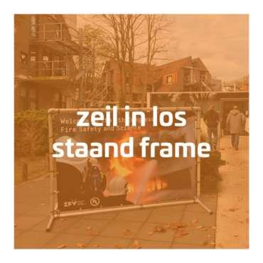 Zeil in los staand frame